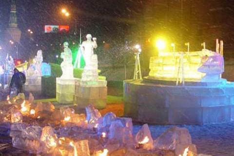 Фестиваль ледовых скульптур «Олимпийская река»