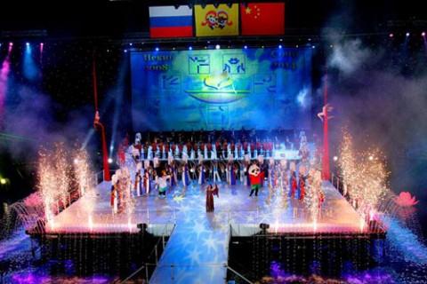 Церемония открытия Российско-Китайских молодёжных спортивных игр 2007 года в Москве