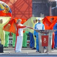 Эстафета Олимпийского огня Пекинской Олимпиады 2008 года в Санкт-Петербурге
