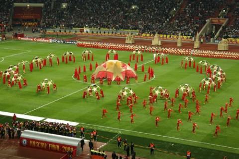 Церемония открытия Финала Лиги Чемпионов УЕФА 2008