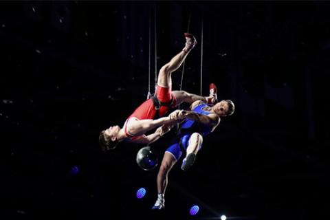 Церемония открытия Чемпионата Европы по спортивной борьбе в г. Каспийск